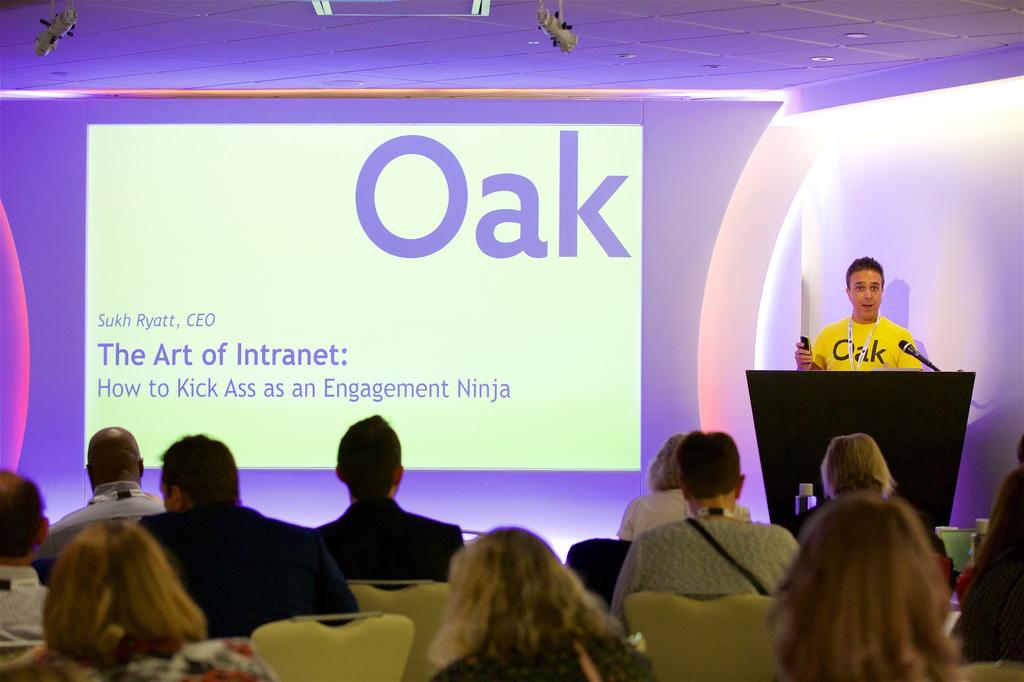 Sukh Ryatt of Oak Intranet 2018.