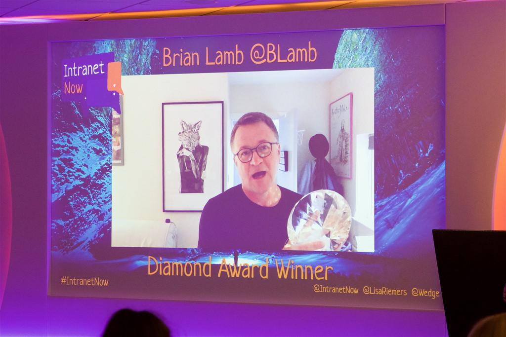 Diamond Award winner Brian Lamb 2018.