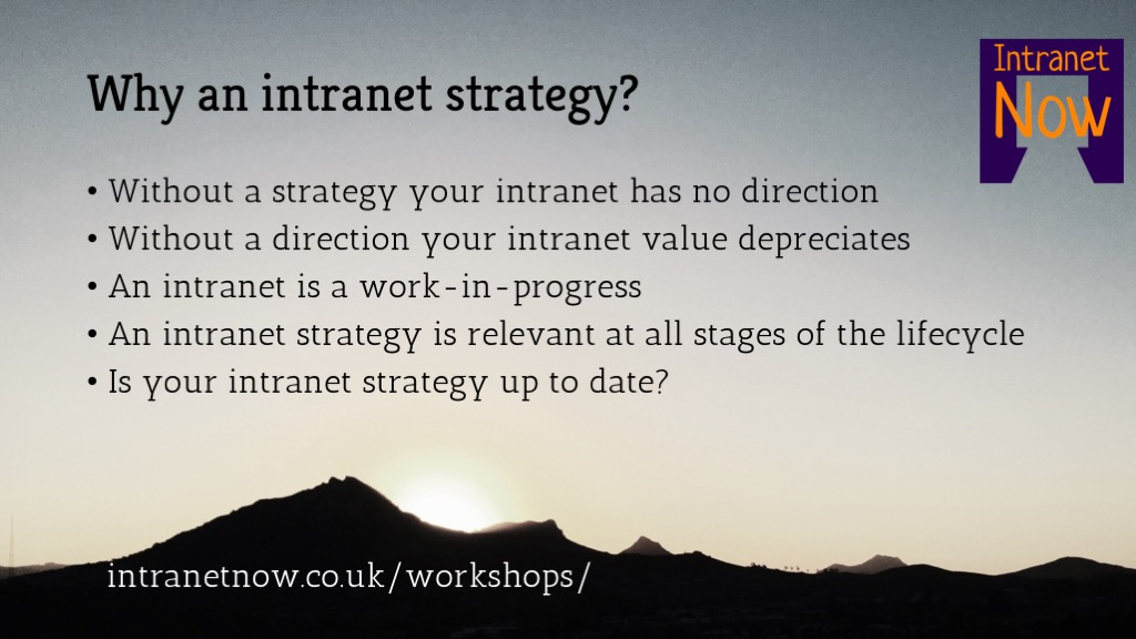 Intranet strategy 1