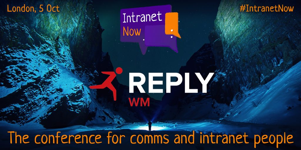 Intranet Now is sponsored by WM Reply
