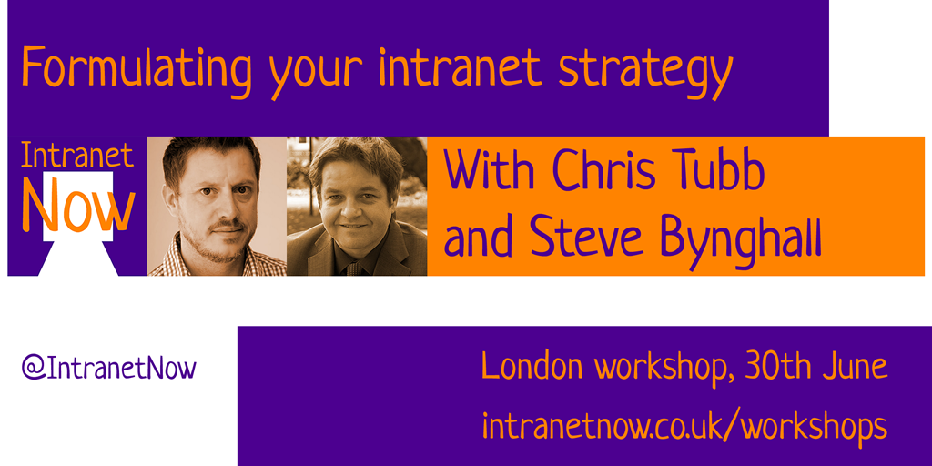 Formulating your intranet strategy - workshop