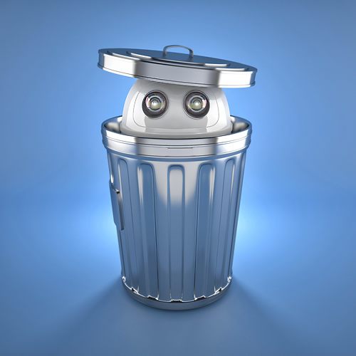 Trash can robot