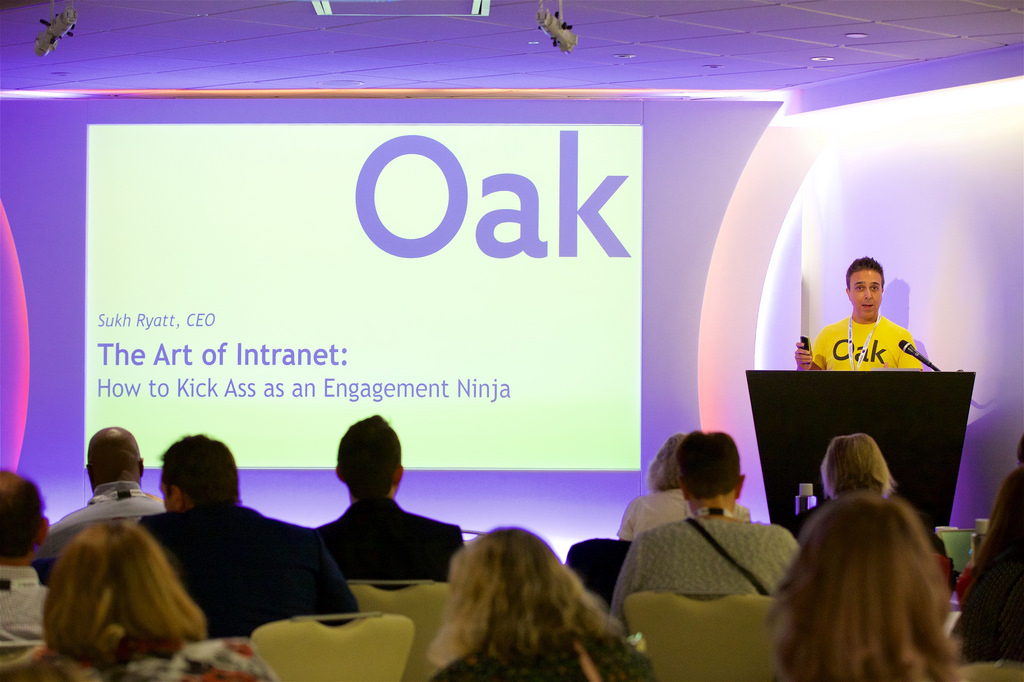 Sukh Ryatt of Oak Intranet 2018.