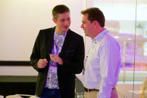 Luke with Simon Thompson.