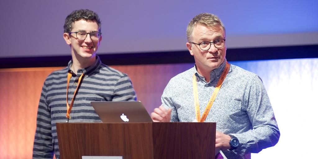 Wedge and Brian, podium 2017